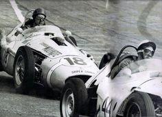 Maserati 250F: Camilo Cristófaro #18 contra Cyro Cayres #44.