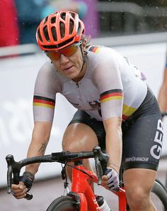 Pro cyclist. Ina-Yoko Teutenberg a retired elite road bicycle racer from Düsseldorf, At the end of Teutenberg's career she rode for Team Specialized–lululemon professional women's cycling team on the UCI Women's Road World Cup and other professional races.