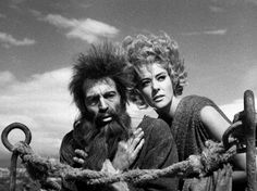 Simon of the Desert (1965)  Simon, a deeply religious man living in the 4th century, wants to be nearer to God so he climbs a column. The Devil wants him come down to Earth and is trying to seduce him.