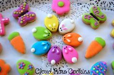 Easter Cookies are the best way to spread the festive cheer. Here are the best Easter cookies ideas & Easter cookie decorating inspiration for you to try. Mini Cookies, Fancy Cookies, Iced Cookies, Holiday Cookies, Cupcake Cookies, Sugar Cookies, Easter Biscuits, Cookies Et Biscuits, Italian Easter Cookies