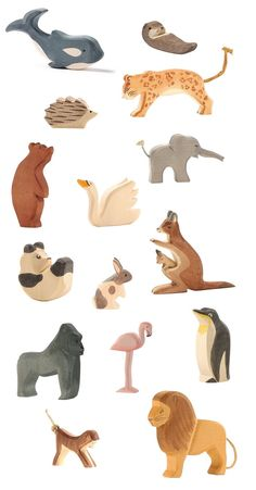 Ostheimer wooden animal toys at little whimsy. Hand finished wooden toys from German brand Ostheimer are fabulous for stimulating learning and they look amazing decorating a shelf or a nursery as well. My children's favourite wooden animals we have quite a collection going now.