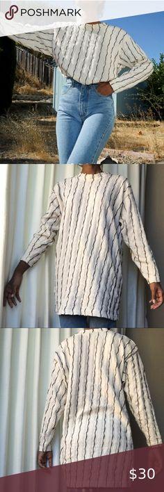 John Knits Black//Ivory Floral Brocade Novelty Knit Zip Cardigan Jacket sz 8 St