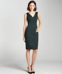 Elie Tahari Evergreen Maureen Stretchy Knit V-neck Dress - Lyst