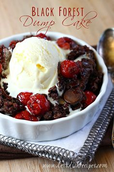 Black Forest Dump Cake | So easy and just 4 ingredients!