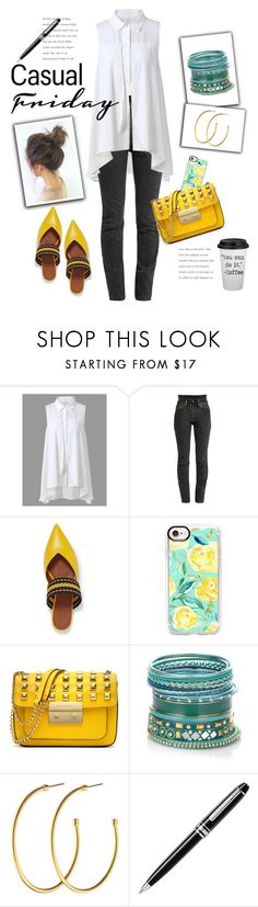 """""""Casual Friday"""" by sheryl-lee ❤ liked on Polyvore featuring Vetements, Malone Souliers, Casetify, MICHAEL Michael Kors, Accessorize, Dyrberg/Kern and Montblanc"""
