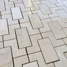 Crema Marfil fretworks Interlock Mosaic Tile