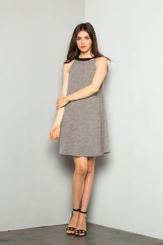 THML | Women's halter dress with braided neckline