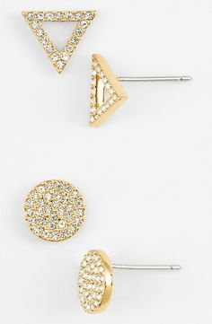 Love these crystal geometric stud earrings.