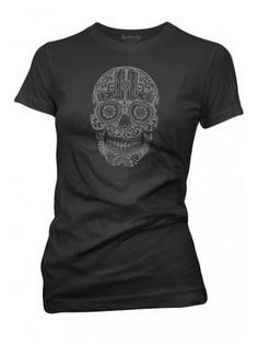 Women's Pistols Skull Crew Neck T-Shirt