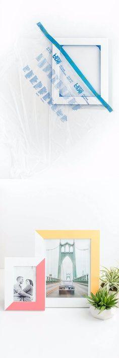 Personaliza tus marcos de fotos - dreamgreendiy.com - DIY Two-Tone Painted Picture Frame