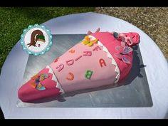 Schultüten Torte - Torte zur Einschulung - Piniata Schultüten Kuchen - Tutorial - von Kuchenfee - YouTube