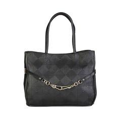 Shoulder Bag of handles- Metal fastening lined interior- Inside: 3 compartments 1 zip pocket 2 inside pockets- Dust bag included- Dimensions: Versace Jeans, Dust Bag, Chanel, Tote Bag, Zip, Metal, Shoulder Bags, Leather, Pockets