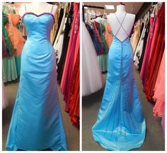 $99 - Size 2 - Turquoise/Fuchsia - Forever Yours