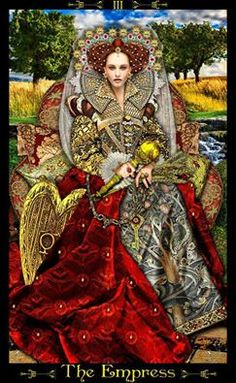 Mock Elizabethan Tarot Card - The Empress