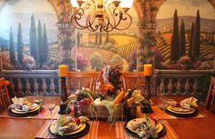 Tuscan dining room table