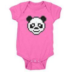 pixel panda dark baby bodysuit > $18.49US > babybitbyte (cafepress.com/babybitbyte) #babybitbyte #cafepress #nerd #geek #pixel #pixels #gamer #gamers #retro #8bit #iam8bit #pixelpanda #panda #pandabear #pandas #bamboo #bears #bear #asian #cute #awh #infant #bodysuit #onesie #onesies