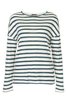 breton stripe linen tee / topshop