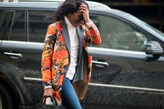 The 21 Best-Dressed People From NYFW, Day 8: Danielle Prescod. Layering math: two fall jackets equal one sort-of winter coat.