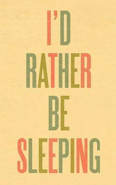 Typography Art Print by Ashley G  I'd Rather Be by ashleyg on Etsy, $20.00