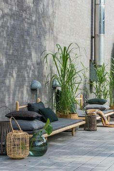 melange de gris vert et matière bambou