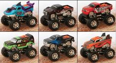 monster trucks  http://momandmore.com/2013/02/toystate-road-rippers-monster-trucks-roar-into-action-review-giveaway-ends-225.html
