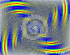 Rotating shapes in yellow, grey and blue hues. Vibrational atmosphere.