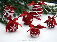 Weihnachtskugeln - 3 Großen und 6 Designs - Häkelanleitung