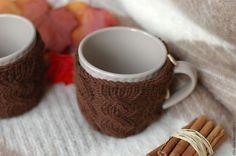 Купить Кружка в свитере Горячий кофе - коричневый, кружка, кружка в подарок, кружка для чая