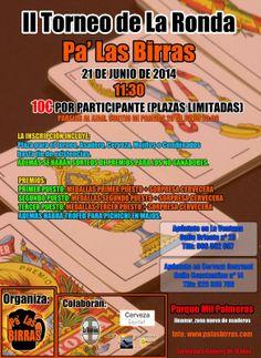 """Pa' Las Birras: II Torneo de """"La Ronda"""" Pa' Las Birras."""