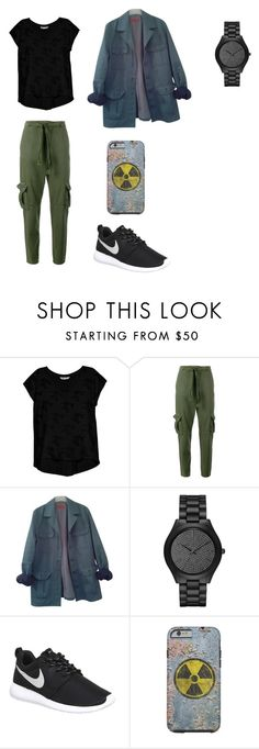 """""""Johnny Test Outfit"""" by indigofudge on Polyvore featuring Bobeau, Current/Elliott, HUGO, Michael Kors and NIKE"""