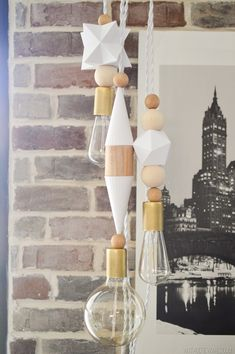 DIY Lighting Ideas for Teen and Kids Rooms - Printed Bauble Lights - Fun DIY Lights like Lamps, Pendants, Chandeliers and Hanging Fixtures for the Bedroom plus cool ideas With String Lights. Perfect for Girls and Boys Rooms, Teenagers and Dorm Room Decor