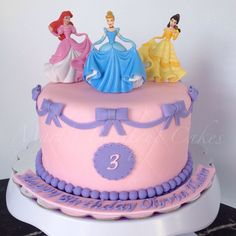 Disney Princesses Cake - by Mari's Boutique Cakes
