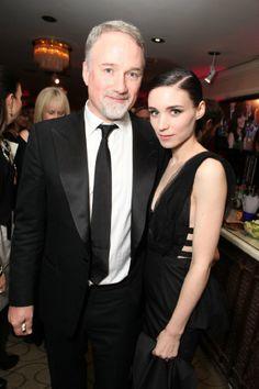 David Fincher and Rooney Mara Rooney And Kate Mara, Rooney Mara, Famous Movie Directors, Movie Creator, David Fincher, Golden Globe Award, Cate Blanchett, Hot Guys, Hot Men