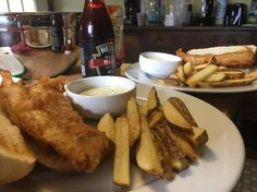Fish and chips with tartar sauce [homemade] #food #foodporn #recipe #cooking #recipes #foodie #healthy #cook #health #yummy #delicious