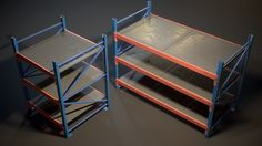 Cubebrush Game Props, Game Environment, Scp, Storage Rack, Warehouse, Dallas, Foundation, Objects, Board