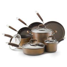 Anolon Advanced Bronze Collection Nonstick 11-Piece Cookware Set - BestProducts.com