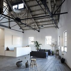 Naturalbuild has created an office and event space in a Shanghai warehouse that previously belonged to Huang Jinrong – a notorious 1930s underworld figure