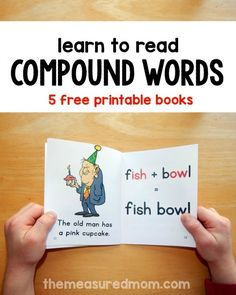 Free printable books to help children learn to read compound words