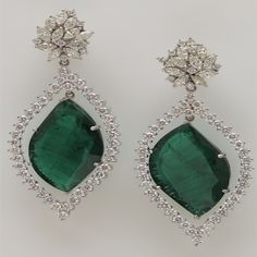 Emerald & Diamond Earrings - Heritage Collection Inc. - Product Search - JCK Marketplace