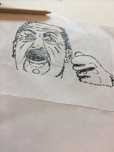 Dit is mijn tekening ik vond het erg leuk om dit te maken maar vond het lastig om de lijnen goed te maken en daarom vind ik dat wel minder gelukt ook zie ik de uitdrukking niet heel erg. Volgende les ga ik me bezig houden met die lijnen en zorg ik dat alles goed op orde is
