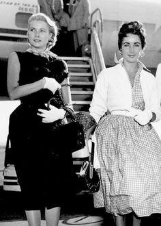 Grace Kelly e Elizabeth Taylor