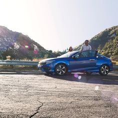 Step out to an awesome view in the #HondaCivic Coupe.