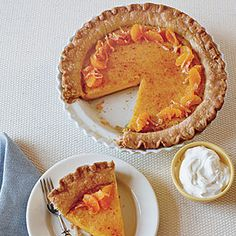 Tangerine Chess Pie Recipe from Southern Living - have substituted local satuma juice and Louisiana naval orange juice for the tangerines