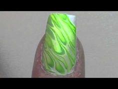 Nail Art  ☄  water marble design nails ❖ Schmucknagel ❖
