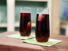 Mulled Cider Wine recipe from Geoffrey Zakarian via Food Network | When I saw it made on TV he added a small bottle of club soda and no simple syrup.