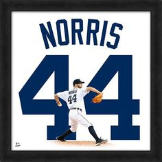 """Daniel Norris Detroit Tigers Officially Licensed 20"""" x 20"""" Uniframe"""