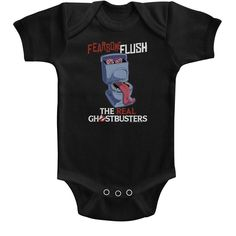 REAL GHOSTBUSTERS Toddler Boys Kids Short Sleeve T-Shirt BLACK FEARSOME FLUSH