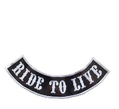 Motorcycles del patch ricamate MC tonaca Harley Chopper Red /& White NUOVO