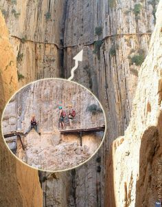 El Caminito del Rey -İspanya (Spain). Honey! We're are you calling me from, as I can hardly hear you?