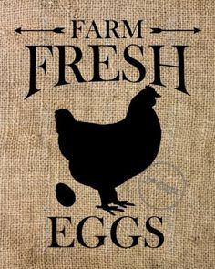 Burlap-Sign-Farm-Fresh-Eggs-Rustic-Primitive-Wall-Art-Lodge-Kitchen-Decor-8x10